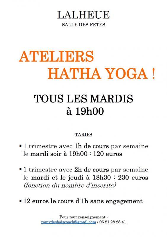 Affiche cours yoga lalheue