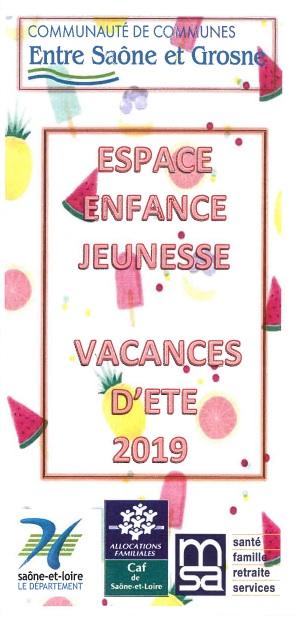Centre de loisirs eej vacances ete 2019