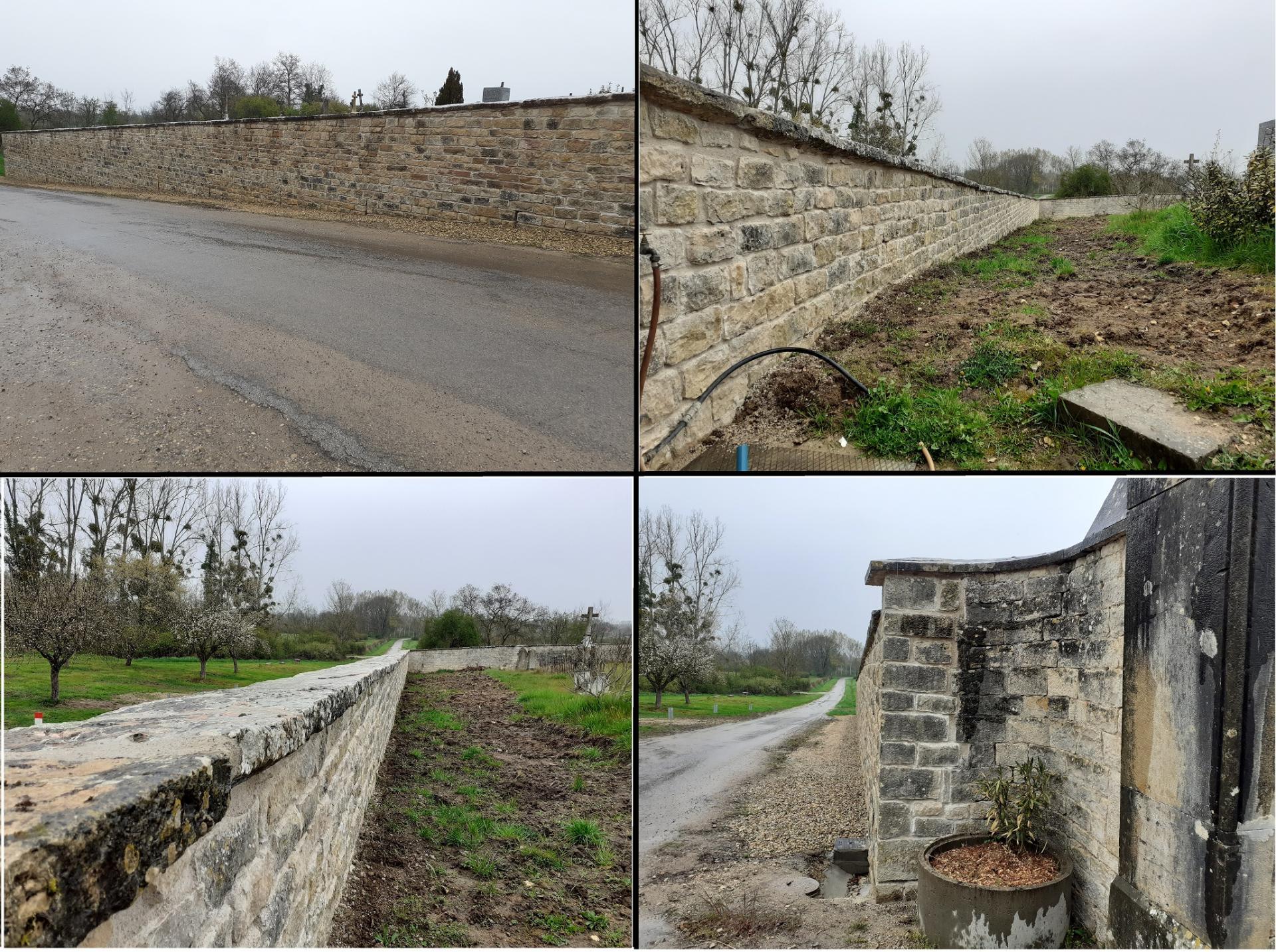 Photos mur cimetiere lalheue